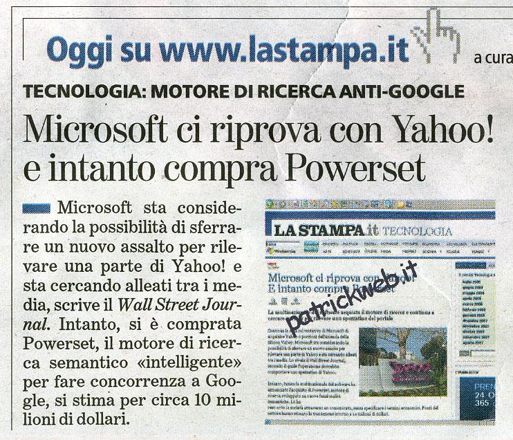 Microsoft contro google