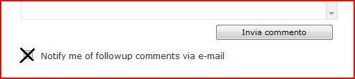 Registrazione a nuovi commenti sul blog